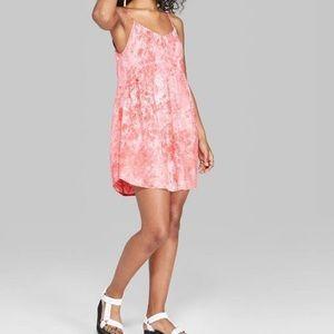 Coral tie dye dress NWT